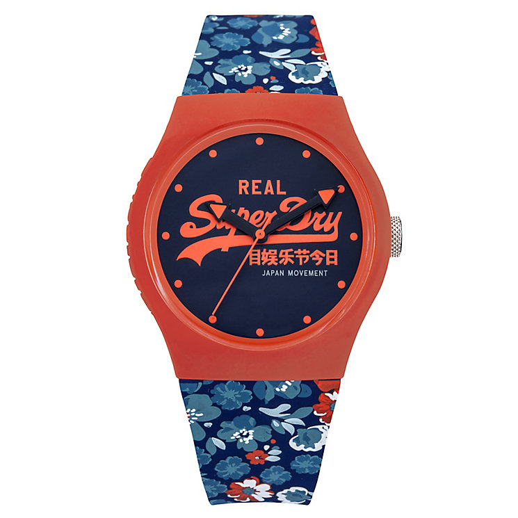 Superdry Urban Floral Ladies' Patterned Silicone Strap Watch - Product number 4716310