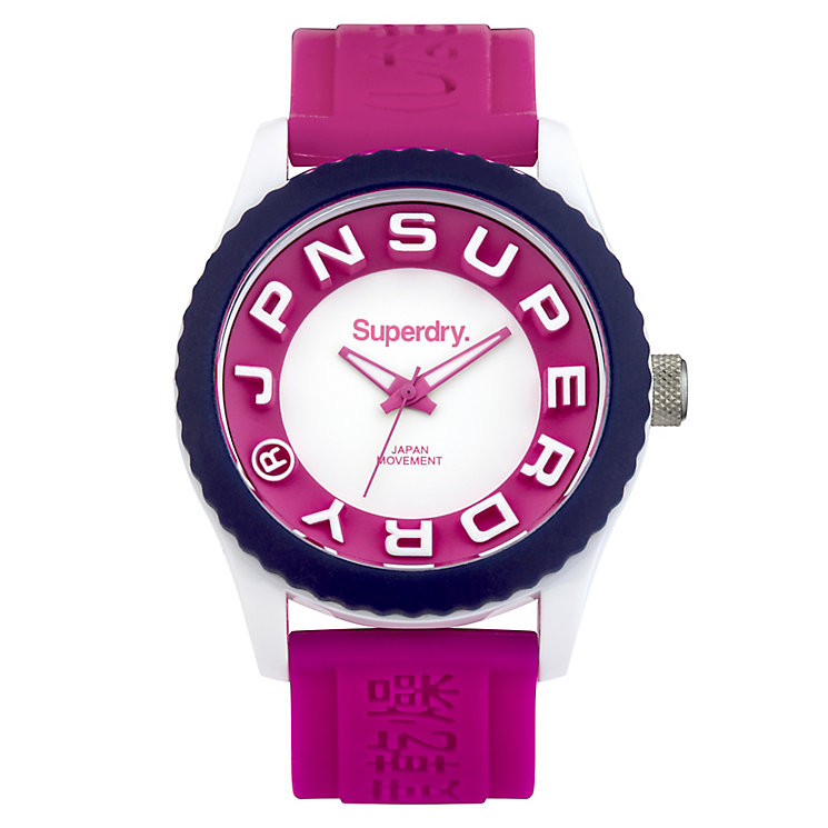 Superdry Tokyo Ladies' Pink Silicone Strap Watch - Product number 4716329