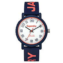 Superdry Campus Ladies' Navy & Orange Silicone Strap Watch - Product number 4716345
