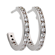 Sterling silver cubic zirconia creole earrings - Product number 4716922