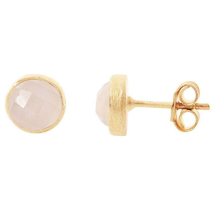 Pomegranate Cupcake Rose Gold-Plated Quartz Stud Earring - Product number 4717074