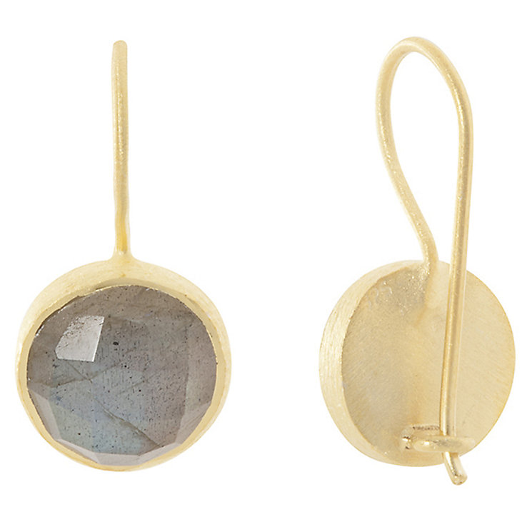 Pomegranate Cupcake Gold-Plated Labradorite Drop Earrings - Product number 4717082