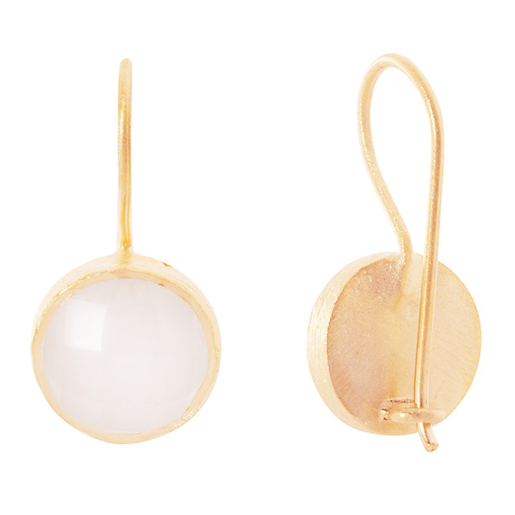 Pomegranate Cupcake Rose Gold-Plated Quartz Drop Earring - Product number 4717112
