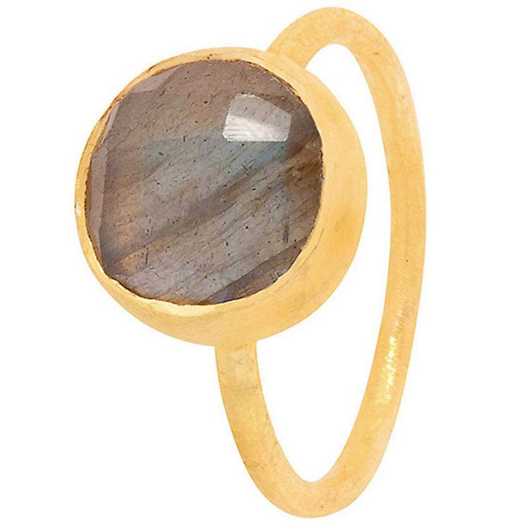 Pomegranate Cupcake Gold-Plated Labradorite Medium Ring - Product number 4717554
