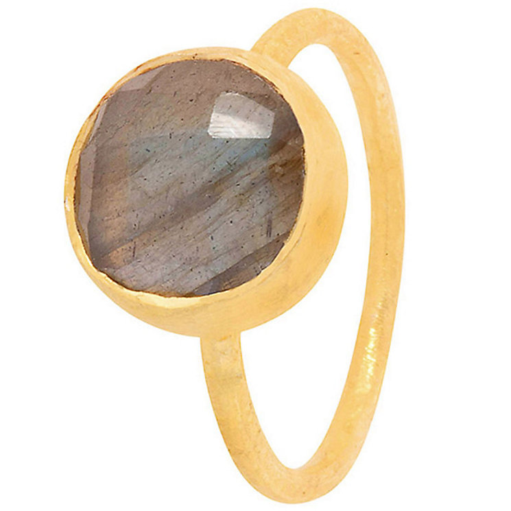 Pomegranate Cupcake Gold-Plated Labradorite Large Ring - Product number 4717562