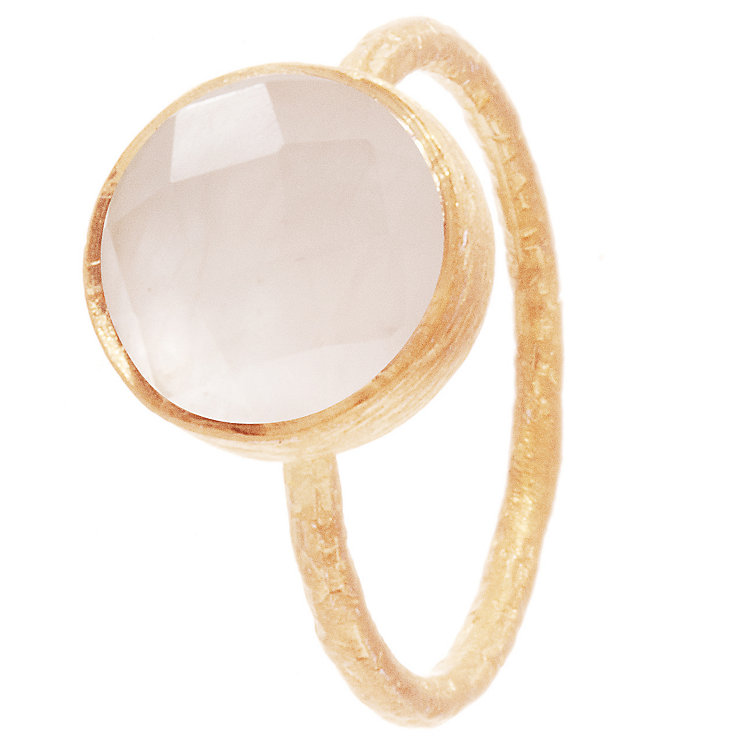Pomegranate Cupcake Rose Gold-Plated Rose Quartz Small Ring - Product number 4717570