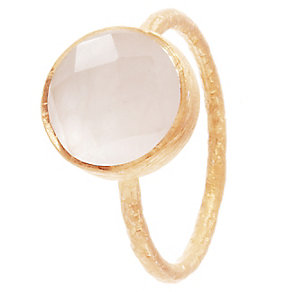 Pomegranate Cupcake Rose Gold-Plated Rose Quartz Medium Ring - Product number 4717597