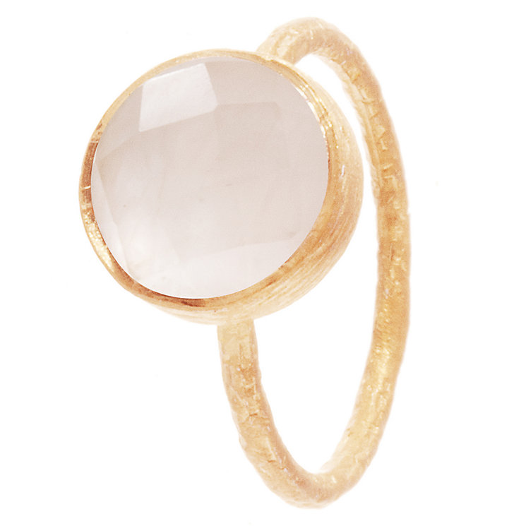 Pomegranate Cupcake Rose Gold-Plated Rose Quartz Large Ring - Product number 4717600