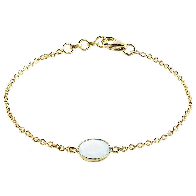 Pomegranate Sasha Gold-Plated Chalcedony Tablet Bracelet - Product number 4717627
