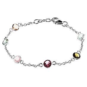 Pomegranate Sweetie Silver Multi Tourmaline Bracelet - Product number 4717643