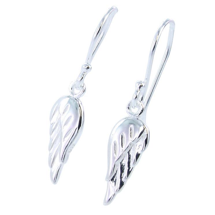 Acorn to Oak  Sterling Silver Angel Wing Drop Earrings - Product number 4717694