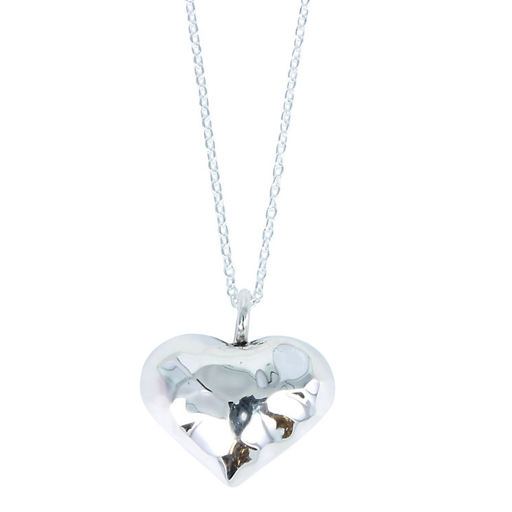 Acorn to Oak  2 Sided Small Hammered Heart Pendant - Product number 4718569