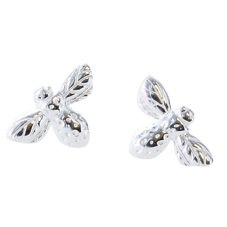 Acorn to Oak  Sterling Silver Bee Stud Earrings - Product number 4719352