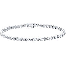 9ct white gold 0.50ct diamond bracelet - Product number 4720059