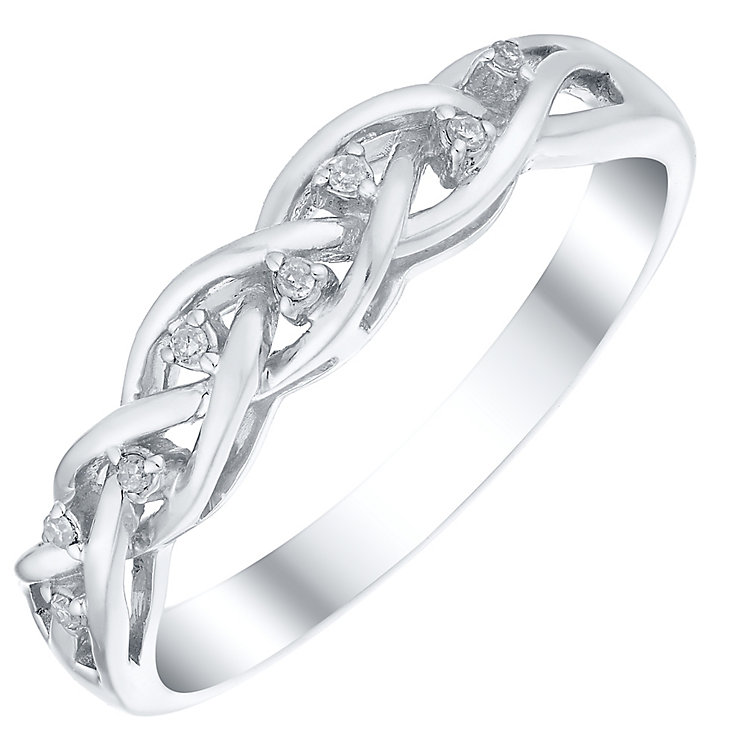 Sterling Silver Diamond Set Eternity Ring - Product number 4724208