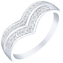 9ct White Gold 1/10 Carat Diamond Wishbone Eternity Ring - Product number 4725638