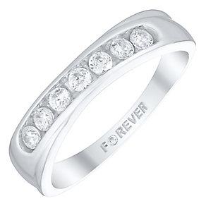 The Forever Diamond Palladium 0.28 Carat Diamond Ring - Product number 4726553