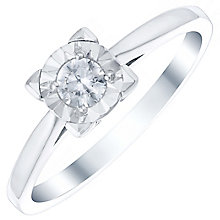 9ct White Gold 1/6 Carat Diamond Illusion Set Ring - Product number 4726847