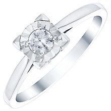 9ct White Gold 1/6 Carat Diamond Illusion Set Ring - Product number 4726847