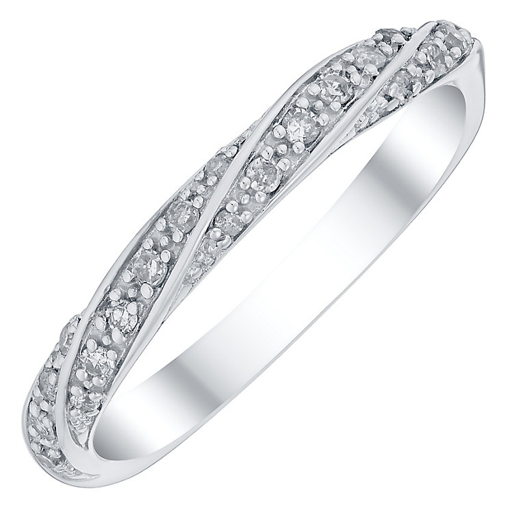 9ct White Gold 0.14 Carat Diamond Set Eternity Ring - Product number 4727274