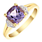 9ct Gold Amethyst & Diamond Ring - Product number 4728483