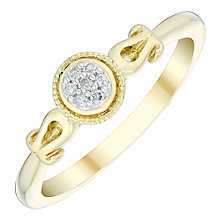 Cherished 9ct Gold Diamond Round Cluster Ring - Product number 4728769