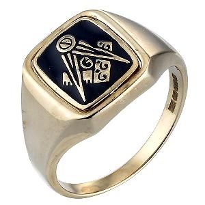 9ct Gold Masonic Signet Ring