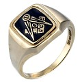9ct Gold Masonic Ring - Product number 4728823