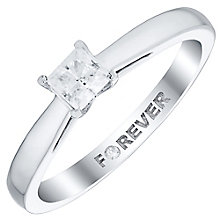 18ct White Gold 1/4 Carat Forever Diamond Ring - Product number 4730429