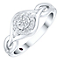 Cherished Argentium Silver Diamond Round Cluster Ring - Product number 4730992