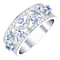 Sterling Silver Tanzanite & Diamond Eternity Ring - Product number 4732227