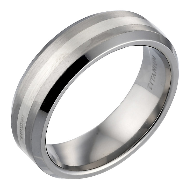 Titanium and Silver Ring - Product number 4732340