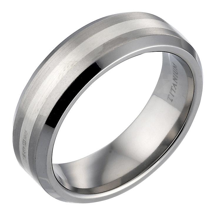 titanium and silver ring h samuel