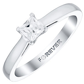 The Forever Diamond 18ct White Gold 1/3 Carat Diamond Ring - Product number 4732820