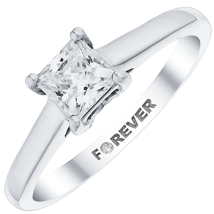 The Forever Diamond Palladium Diamond Solitaire Ring - Product number 4733126