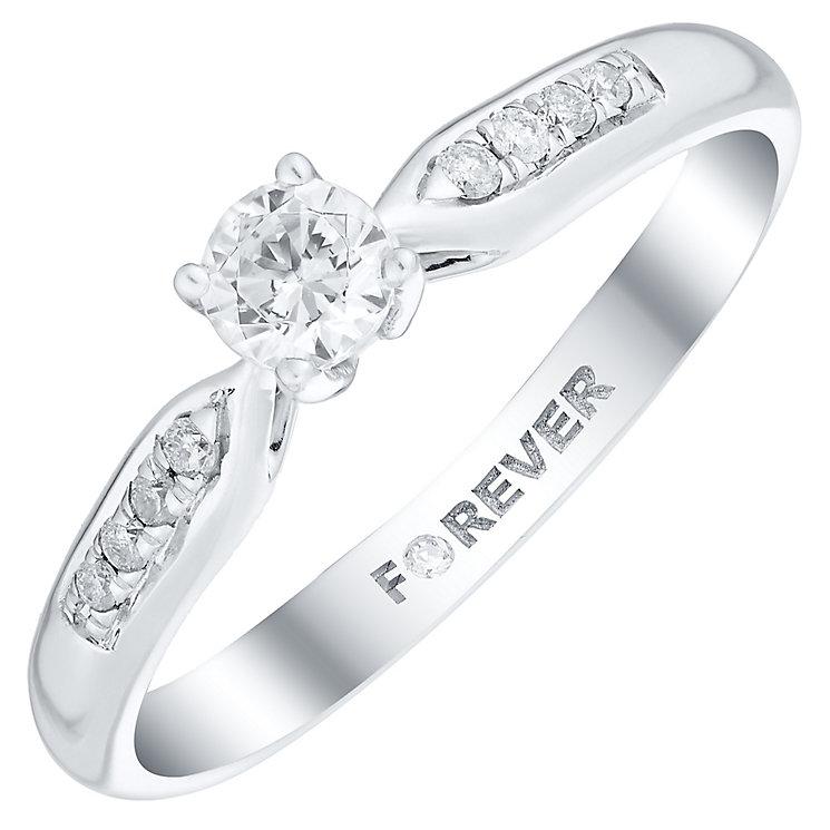 Palladium 1/4 Carat Forever Diamond Ring - Product number 4733401