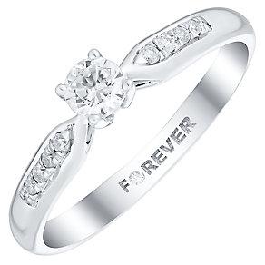 The Forever Diamond Palladium 1/4 Carat Diamond Ring - Product number 4733401