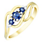 9ct Gold Sapphire & Diamond 3 Stone Ring - Product number 4733568