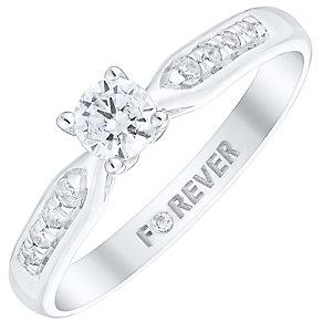 The Forever Diamond Palladium 1/3 Carat Diamond Ring - Product number 4733681
