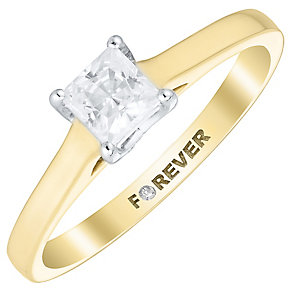 The Forever Diamond 9ct Gold Diamond Solitaire Ring - Product number 4734270