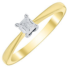 9ct Gold Two Colour 1/4 Carat Princess Cut Diamond Ring - Product number 4734688