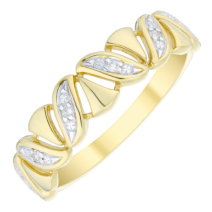 9ct Gold Diamond Set Eternity Ring - Product number 4735250
