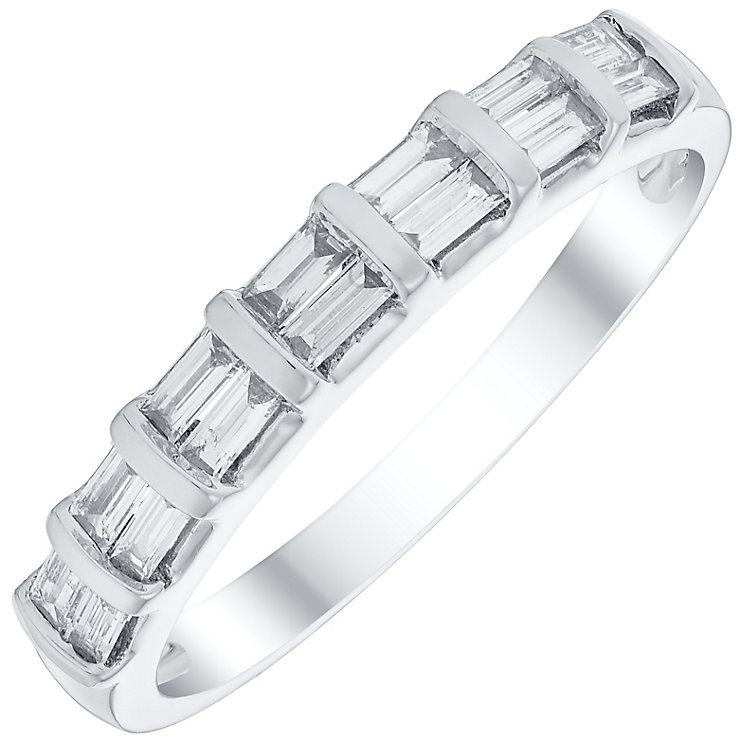 9ct White Gold 1/4 Carat Baguette Cut Diamond Eternity Ring - Product number 4735773