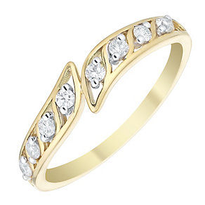 9ct Gold 0.16 Carat Diamond Eternity Ring - Product number 4736842