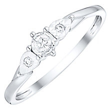 9ct White Gold Diamond Illusion Set Solitaire Ring - Product number 4737822
