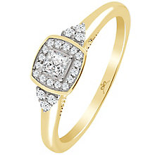 9ct Gold 1/4 Carat Diamond Princessa Ring - Product number 4740742