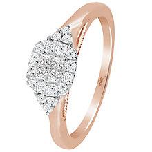 9ct Rose Gold 1/3 Carat Diamond Princessa Cluster Ring - Product number 4741005