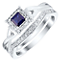 Perfect Fit 9ct White Gold Sapphire 0.12ct Bridal Set - Product number 4741447