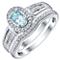 Perfect Fit 9ct White Gold Aquamarine 0.15ct Bridal Set - Product number 4741862