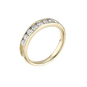 Leo 18ct yellow gold 0.50ct I-SI2 channel diamond ring - Product number 4743784